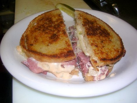 Corned Beef Ruben on Rye
